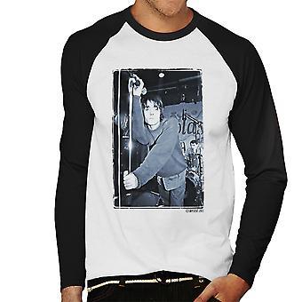 Oasis Liam Gallagher na żywo męska Baseball z długim rękawem T-Shirt