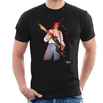 Kurt Cobain Singing Live Guitar Men's T-Shirt