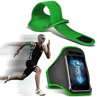 Huawei Honor Bee Fitness Running Jogging Cycling Gym Armband Holder Case Cover (Green)