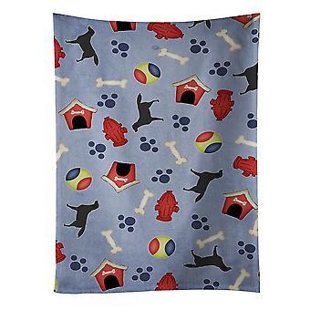 Black Labrador Retriever Dog House Collection Kitchen Towel
