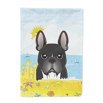 French Bulldog Summer Beach Flag Canvas House Size