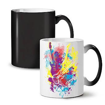 Guitar Dream Player NEW Black Colour Changing Tea Coffee Ceramic Mug 11 oz | Wellcoda