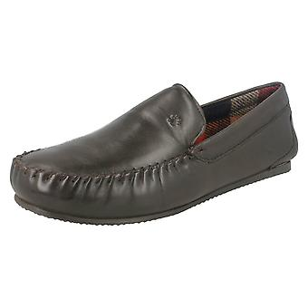 Mens Padders Moccasin Style Slippers Marino