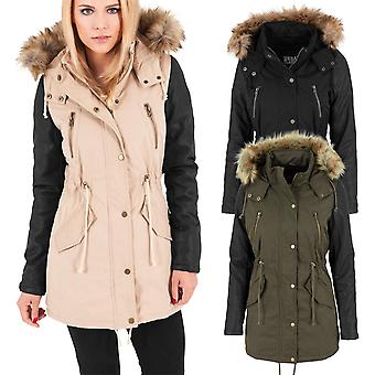 Urban classics ladies - PARKA faux leather winter jacket Matel