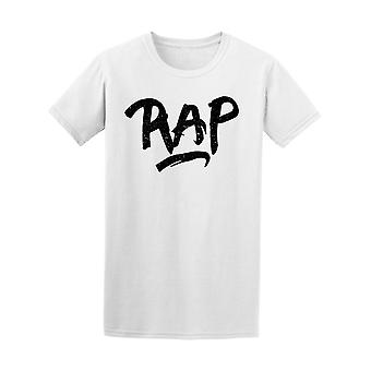 Rap Music Ink Calligraphy Tee Men's -Image by Shutterstock