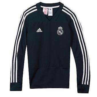 2018-2019 Real Madrid Adidas Training top (gri-închis)-copii