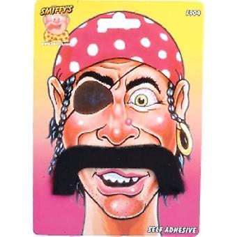 Pirate Moustaches Droopy style auto-adhésif (Quantité 1)