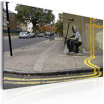 Canvas Print - Yellow flower (Banksy)