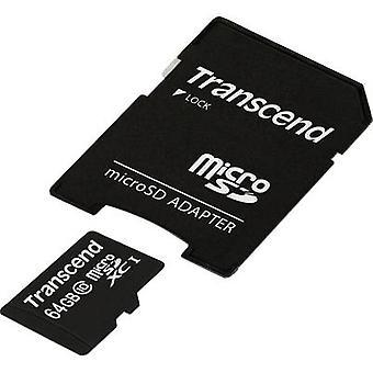 Transcend Premium microSDXC kaart van 64 GB Class 10 UHS-I incl. SD adapter