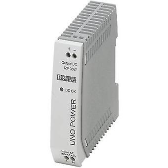 Phoenix Kontakt UNO-PS/1AC/12DC/30W Schienennetzteil (DIN) 12 V DC 2.5 A 30 W 1 x