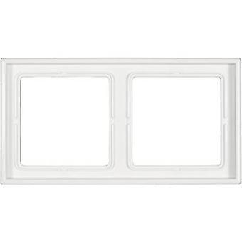 Jung 2x Frame LS 990 Alpine white LS 982 WW