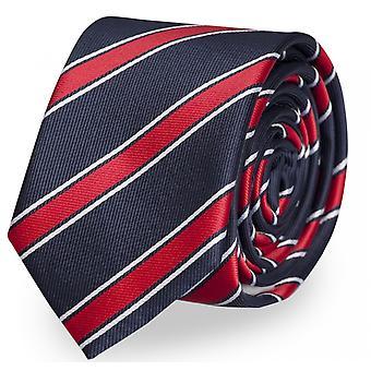 Schlips, Krawatte, Krawatten, Binder, 8cm blau weiß rot gestreift, Fabio Farini