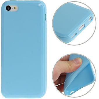 Beschermende case TPU voor telefoon Apple iPhone 5 C blue