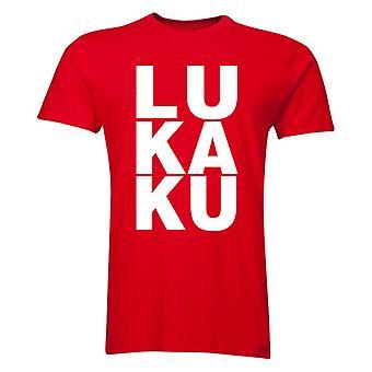 Belgier Lukaku Man Utd T-Shirt (rot/weiß)