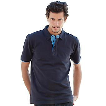 Front Row Contrast Pique Polo Shirts