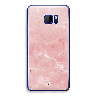 HTC U Ultra przezroczysty (Soft) - różowego marmuru