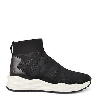Ash Footwear Skye Black Camo Knit Trainer