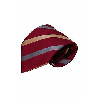Rode zijden stropdas Ufita 01