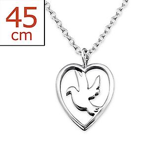Bird - 925 Sterling Silver Plain Necklaces - W25333x