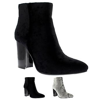 Womens Elegant Block Heel Pointed Toe Dress Fashion Trendy Ankle Boots UK 3-10