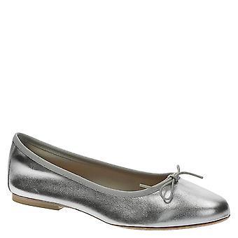 Silver laminowane miękkie skórzane Baletki balerinki mieszkania