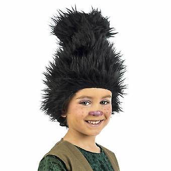 Crianças de elfos troll peruca criança peruca preta GNOME