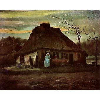 Cottage at Nightfall, Vincent van Gogh, 65,5 x79cm