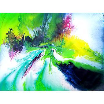اللوحة الزيتية التجريدية، 90x120 سم اليد رسمت 003318080875629