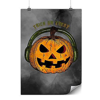 Matte or Glossy Poster with Halloween Music Evil | Wellcoda | *y3537
