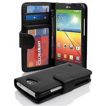 Cadorabo Hülle für LG L90 غطاء القضية -- Handyhülle mit Magnetverschluss اوند 3 Kartenfächern -- غطاء القضية Schutzhülle Etui Tasche كتاب Klapp نمط