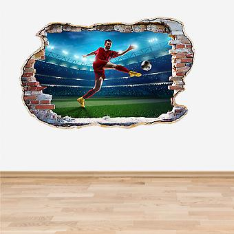 Full Colour Football Soccer Player muur 3D Effect muur Sticker
