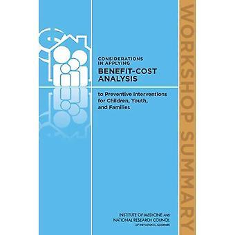 Considerazioni nell'applicazione analisi costi-benefici di interventi preventivi per bambini, giovani e famiglie...