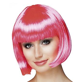 Wig Cabaret hot pink Fancy Dress Accessory