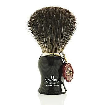 Omega 6650 Pure Badger hår barberkost