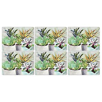 Pimpernel Succulents Placemats, Set of 6