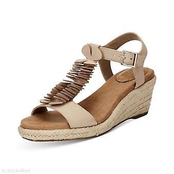 Giani Bernini Womens Sallee Leather Open Toe Casual T-Strap Sandals
