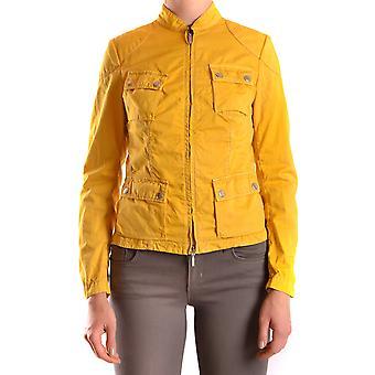 Brema Ezbc146009 Women's Yellow Cotton Outerwear Jacket