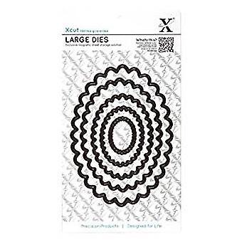 Xcut häckande dör (5st) - Scalloped Oval (stor) (XCU 503406)