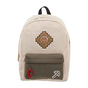 Minecraft Backpack Bag Explorer Patches Logo new Official Gamer Beige