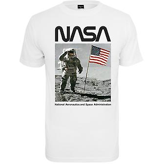 Mister Tea Shirt-NASA Moon Man White