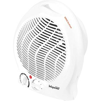 Infapower Upright Fan Heater 2000W - White (Model No. X401)