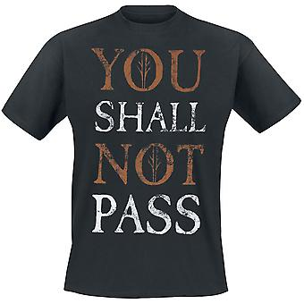 Lord Of The Rings Unisex Adults You Shall Not Pass Text Design T-shirt
