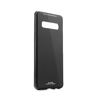 Shell Samsung S10 in rubber/glass back,