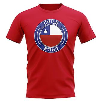 Chile Football Badge T-Shirt (Red)