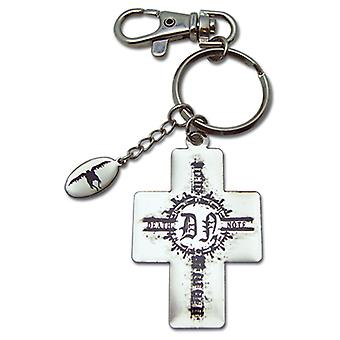 Key Chain - Death Note - New Metal Cross and Ryuk Charm Licensed ge3972