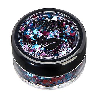 Mystic Bio Biodegradable Eco Chunky Glitter by Moon Glitter - 100% Cosmetic Bio Glitter for Face, Body, Nails, Hair and Lips - 3g - Enchanted