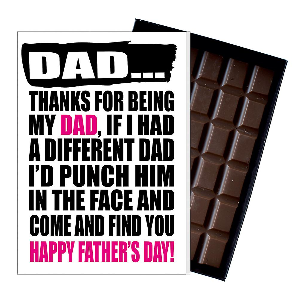 Funny Father's Day Gift Silly Chocolate Present Rude Card For Dad DADIYF142