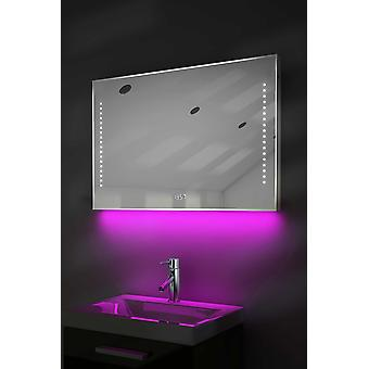 Clock Mirror with UnderLighting, Bluetooth, Demist & Sensor k195Waud
