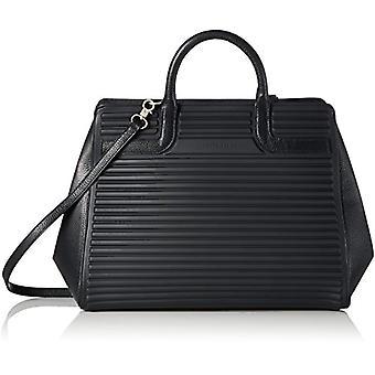 Mandarin duck You Leather Shoulder strap - Donna Schwarz shoulder bags (Black) 16x29x40 cm (B x H T)