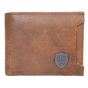 883 Police Lazzaro Leather Brown Wallet